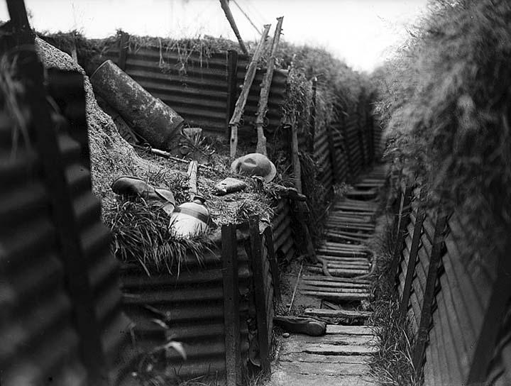 Empty trench
